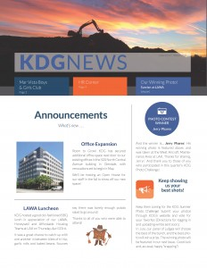 KDG Newsletter Winter 2015